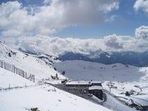 Winter landscape with snow. Winter landscape snow blue europe austria ski royalty free stock image