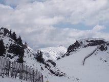 Winter landscape with snow. Winter landscape snow blue europe austria ski royalty free stock images