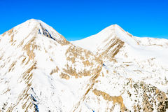 Winter landscape of snow-capped mountains Pirin Stock Image