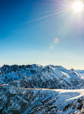 Winter landscape of snow-capped mountains Pirin Stock Photography