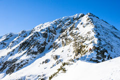Winter landscape of snow-capped mountains Pirin Royalty Free Stock Photo