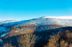 Winter landscape with snow covered mountain Royalty Free Stock Images