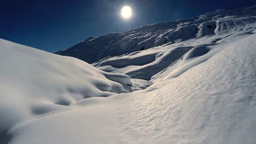 Winter landscape snow covered mountains aerial view fly over. Video of winter landscape snow covered mountains aerial view fly over stock video footage