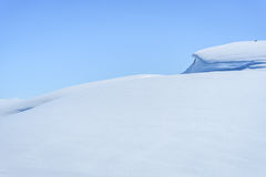 Winter landscape in snow covered mountains Royalty Free Stock Photo