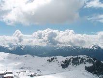 Winter landscape with snow. Winter landscape snow blue europe austria ski royalty free stock photos