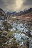 Winter Landscape of Snowdonia in North Wales, UK royalty free stock photo