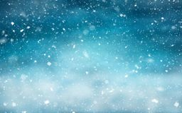 Winter landscape with snowfall royalty free stock photography