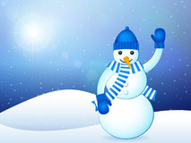 Winter landscape snowman Stock Image