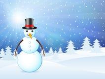Winter landscape snowman Royalty Free Stock Photo