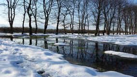 Winter landscape in the South of Azerbaijany Royalty Free Stock Photography