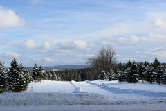 Winter Landscape. In Southern Quebec stock photos