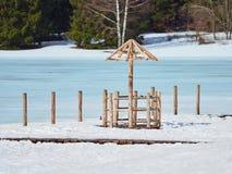 Winter Landscape at St Ana Lake, Romania. Winter Landscape at St Ana Lake in Romania Royalty Free Stock Image