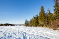 Winter landscape of suburban areas of Zakopane Stock Images