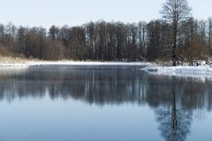 Winter landscape in the suburbs of Kazan royalty free stock photo