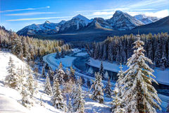 Winter landscape. In sunny day Royalty Free Stock Photography