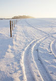 Winter landscape and sunny weather Stock Photos