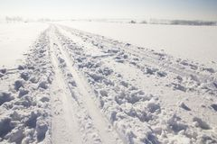Winter landscape and sunny weather Royalty Free Stock Photo