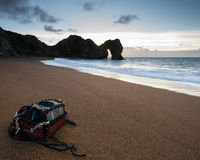 Winter landscape sunrise at Durdle Door UNESCO World Heritage Si Stock Photography