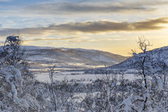 Winter landscape in Svandalen nature reserve Royalty Free Stock Photo