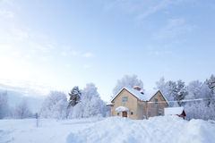 Winter landscape Sweden Stock Image