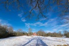 Winter landscape in Sweden Stock Image