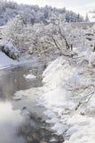Winter landscape at Takayama in Japan Stock Images