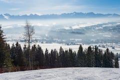 Winter landscape of Tatra Mountains Royalty Free Stock Image