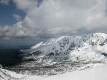 Winter landscape - Tatry mountain range in the snow. Fantastic winter landscape - Tatry mountain range in the snow. Zakopane, Poland royalty free stock photos