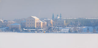 Winter landscape in the Ternopil city. Ukraine Royalty Free Stock Photo