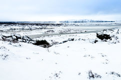 Winter landscape at Thingvellir National Park, Iceland Royalty Free Stock Photos
