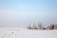 Winter landscape in Thuringia Royalty Free Stock Image