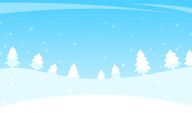 Winter landscape with trees and falling snow Royalty Free Stock Images