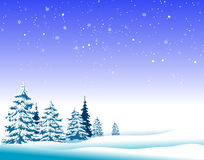 Winter landscape trees Royalty Free Stock Images