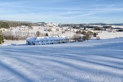 Winter Landscape in Upper Austria Stock Image