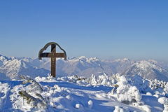 Winter landscape in Upper Bavaria Stock Photography