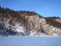 winter landscape, the Ural Mountains stock photos
