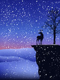 Winter landscape vector Royalty Free Stock Photos