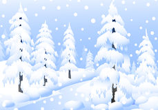 Winter Landscape - Vector Royalty Free Stock Photo