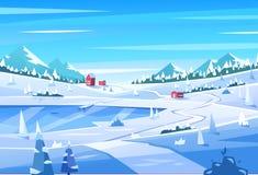 Winter landscape. Vector illustration Royalty Free Stock Image