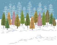 Pastel Snow Landscape vector illustration