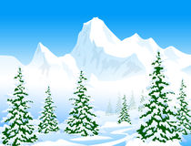 Winter landscape - Vector Ilustration Stock Photography