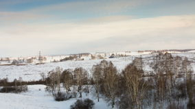Winter landscape stock footage