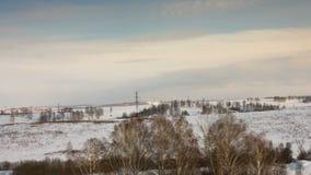 Winter landscape stock video