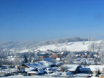 Winter landscape in the village Royalty Free Stock Images
