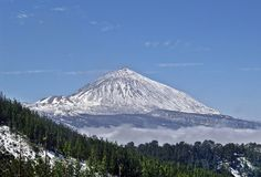 Winter Landscape in Volcan Teide National Park. Tenerife, Canary Island, Spain Stock Image