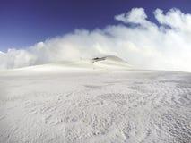 Winter landscape on the volcano Etna stock image