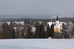 Winter landscape in Western Bohemia, Czech Republic. Royalty Free Stock Image