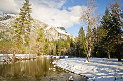 Winter landscape in Yosemite Valey Royalty Free Stock Images