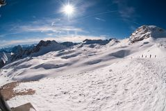 Winter landscape in the Zugspitze, Germany Stock Photography