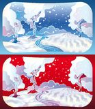 Winter landscapes Royalty Free Stock Photo